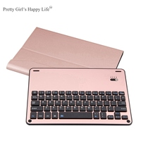 "For iPad Pro 10.5 inch Wireless Bluetooth Keyboard Case For iPad Pro 10.5"" Tablet Flip Leather Stand Cover Capa Fundas+Stylus"