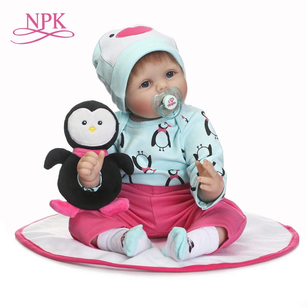NPK new 22inch silicone vinyl real gentle soft touch reborn baby lifelike newborn baby children Christmas Gift carbon fiber abs sticker steering wheel trim button switch panel frame cover sticker accessories for honda civic 2016 2017