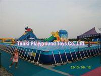6*3*1.3m China original manufacturer funfair surf pool/ commercial frame swimming pools