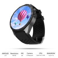 EgoCSM Kw88 Android 5 1 OS Smart Watch Electronics Android MTK6580 Quad Core Processor Heart Rate