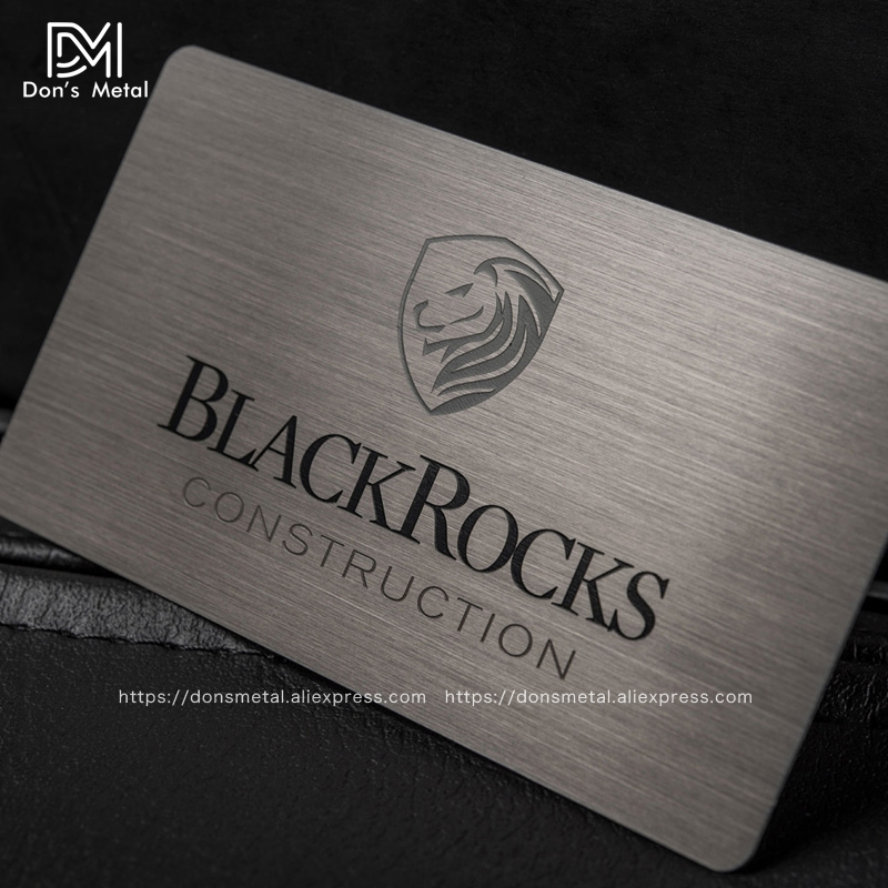 Brushed Stainless Steel Plated Black Card Metallic Membership Card Black Card High-grade Metal Business Card Black Gold Membersh
