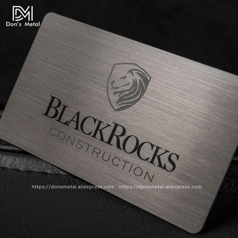 Brushed Stainless Steel Plated Black Card Metallic Membership Card Black Card High-grade Metal Business Card Black Gold Membersh