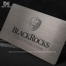 Fırçalanmış paslanmaz çelik kaplama siyah kart metalik üyelik kartı siyah kart yüksek dereceli metal kartvizit siyah altın membersh