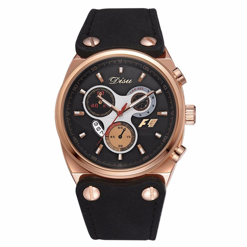 Luxury Brand Men Watches NEW 2017 Retro Design Leather Band Analog Alloy Quartz Wrist Watch Business Mens Clock Creative Sep02 fabulous 1pc new women watches retro design leather band simple design hot style analog alloy quartz wrist watch women relogio