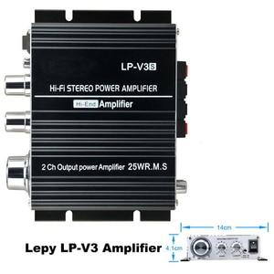 20Hz-20 kHz czarny 700W moc 3.5mm utwory utwór 12V Mini LP-V3 wzmacniacz Stereo połączenie cyfrowy MP3 Hi-Fi głośnik do samochodowego systemu audio