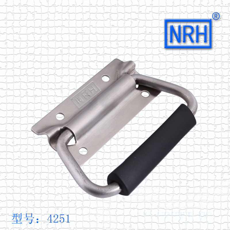 NRH4251 SUS 304 stainless steel handle flight case handle Spring handle Factory direct sales Wholesale price high quality handle m75 750kgs pulley 304 stainless steel roller crown block lifting pulley factory direct sales all kinds of driving pulley