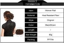Gres Женщины Вьющиеся Шиньоны для Волос Черный Цвет Клип в пончик для волос Цветочная расческа для
