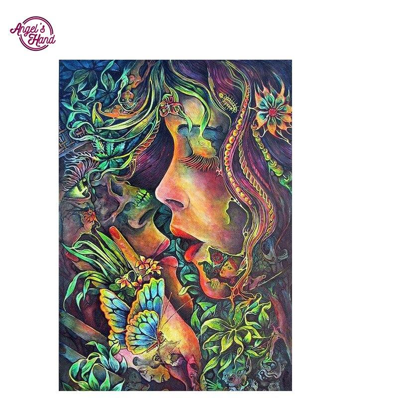 ANGELS HAND art hippie bohemian 5D diamond embroidery