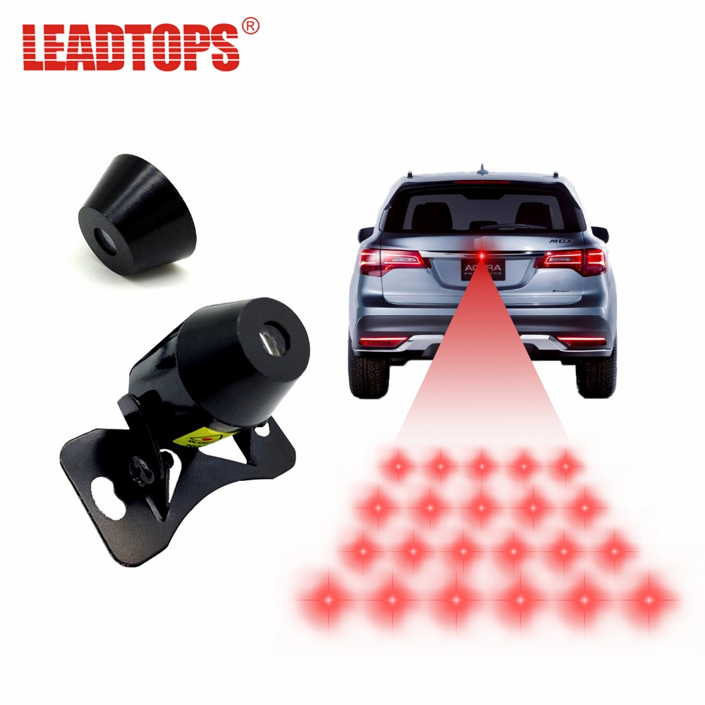 LEADTOPS 1set Anti-Fog Anti Collision Lamp Rear-End Car Laser Warning Light Rainproof 12V For passat b5 For mazda 6 For vw AE цена и фото