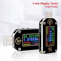 HD Type C Color Display PD Trigger USB Voltmeter Ammeter Voltage 2 way Measurement Current Meter Multimeter USB Tester
