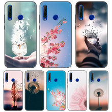 Black Protector Silicone Case Cover for Huawei Honor 8C 8X 8A 10 20 Lite Pro Y5 Y6 Y7 Y9 2019 Play 9X Enjoy V20 Capa Nature and(China)