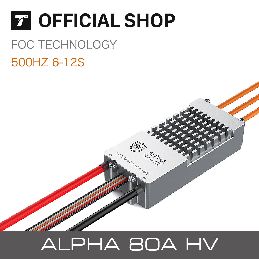 T-motor ALPHA 80A HV FOC ESC For Helicopter Multi-rotor Quadcopter UAV RC Drones tarot xrotor pro 80a hv 80a xrotor pro esc electronic speed controller tl2969 for multi rotor quadcopter helicopter f19644