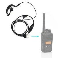 מכשיר הקשר 2 פין G-Shape אוזניות אוזניות אפרכסת PTT MIC מידלנד מכשיר הקשר G6 / G7 / G8 / G9 GXT550 GXT650 LXT80 LXT110 LXT112 רדיו (2)