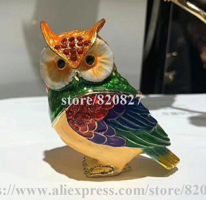 New and Cute Owl Trinket Box for Decorative Owl Storage Case Lovely Owl Statue Figurine Collectible Animal Owl Novelty Gift manitobah унты snowy owl mukluk женские коричневый