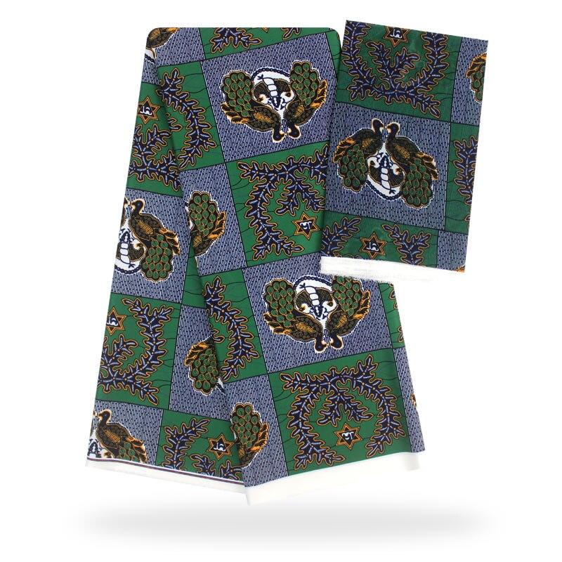 YBG! haute qualité africain cire impression tissu marque Stretch Satin soie tissu tissu soie offre spéciale en gros 4 + 2 yards/lot! L61892 - 2