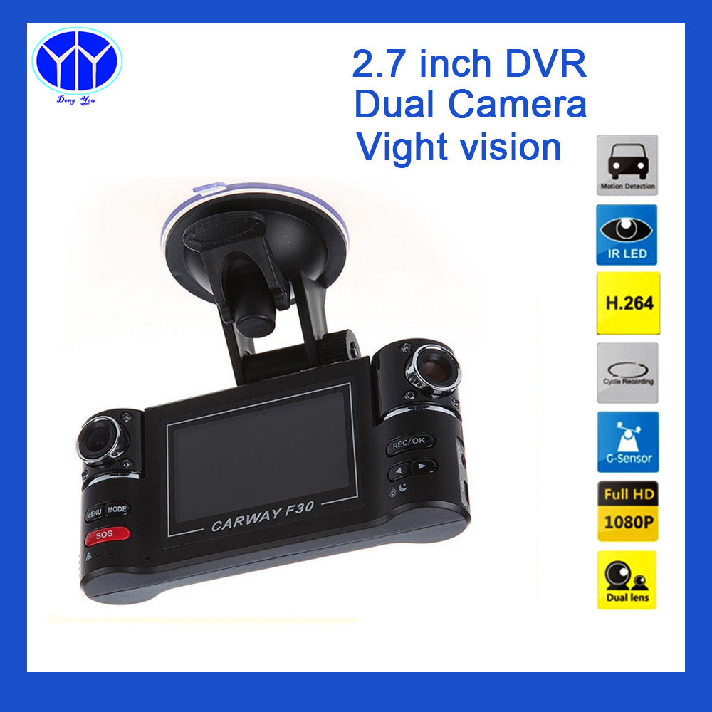ФОТО Car DVR 2.7 Night Vision G-sensor Dash Cam Drive Camera Video Registrator Recorder Dual Lens Camcorder Blackbox Dashcam Auto dvr