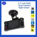 Car DVR 2.7 Night Vision G-sensor Dash Cam Drive Camera Video Registrator Recorder Dual Lens Camcorder Blackbox Dashcam Auto dvr