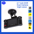 DVR carro 2.7G-sensor de Visão Noturna Traço Cam Câmera Drive Gravador de Vídeo Registrator Dual Lens Camcorder Blackbox Dashcam Auto dvr