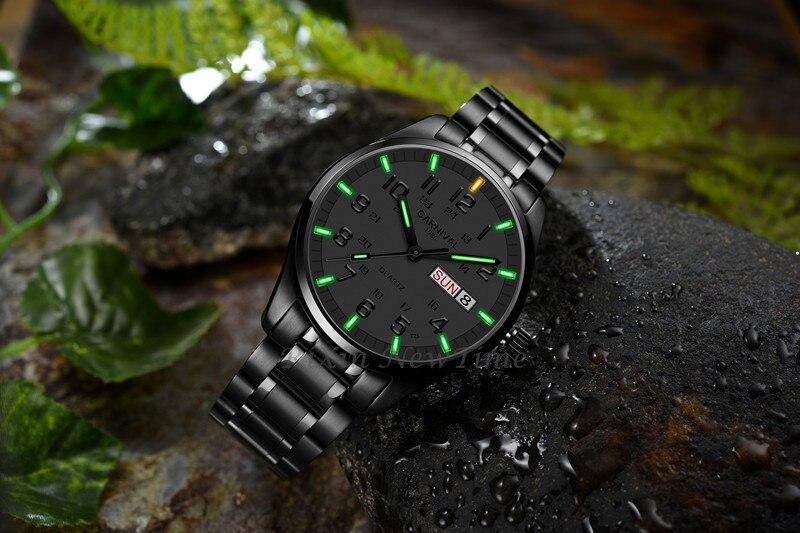 m safira marca relógios dos homens de aço completo relojes