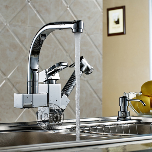 Kitchen Faucet Kitchen Pull Tap Single Handle Double Outlet Tap Large  Orders Best Selling Hot Tap Multifunctional Kitchen Faucet In Kitchen  Faucets From ...