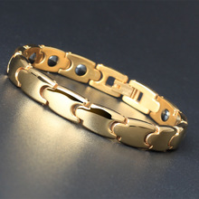 Women Jewelry Titanium  Healing Magnetic Bio Energy Bracelet For Women Accessory Silver Bracelets