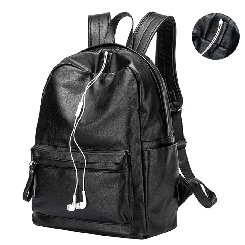Women s Backpack Interior Slot Pocket Sheepskin Leather Women Backpack Preppy Style School Bag for Girls