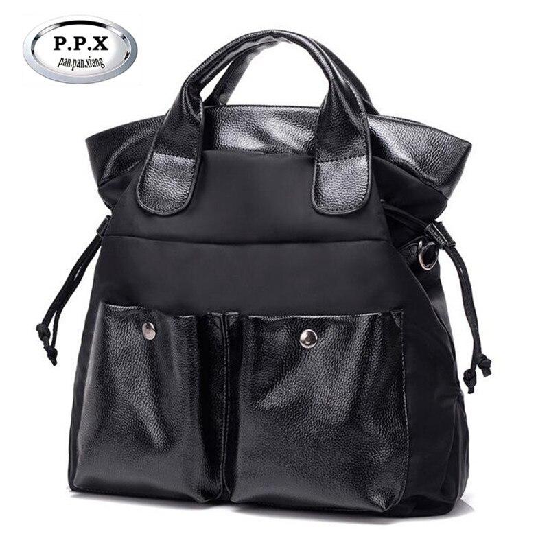 P.P.X High Quality PU+Oxford Handbag Europe and America Fashion Women's Shoulder Bag Feminina Messenger Bags Clutches Women M622