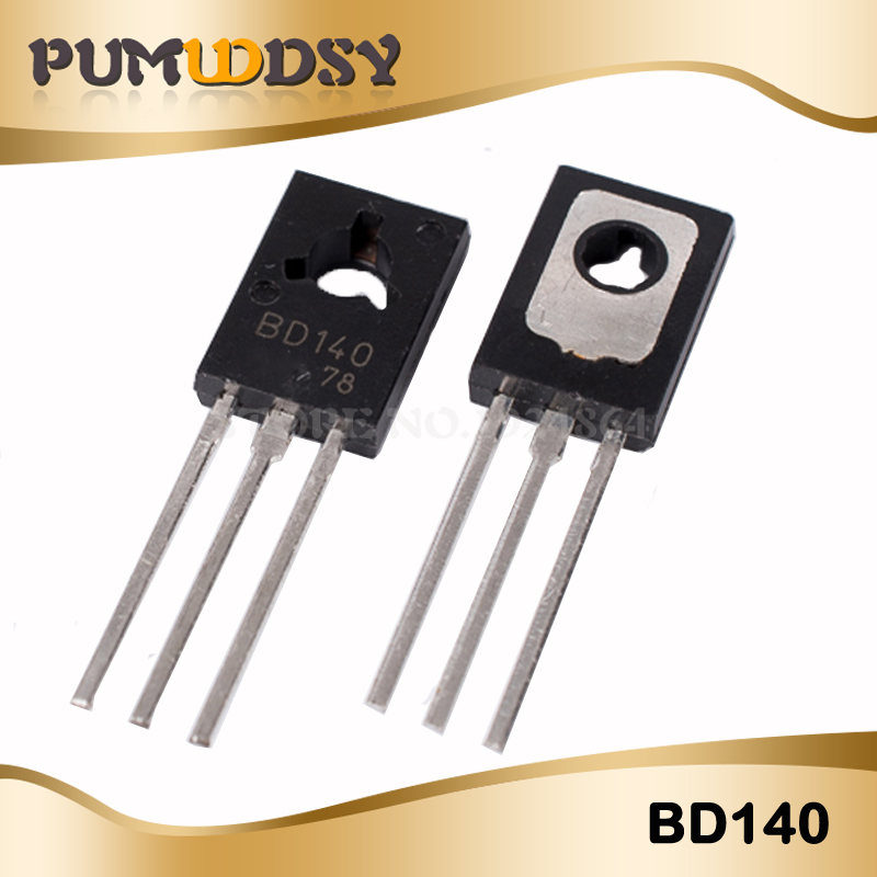 100PCS Free Shipping BD140 D140 TO-126 NPN 1.5A 80V NPN Epitaxial Triode Transistor New Original IC