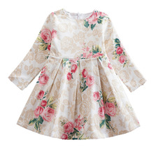 Girls Dresses New 2019 Clothes for Cotton Floral Print Dress Kids Thicken Princess Party Toddler