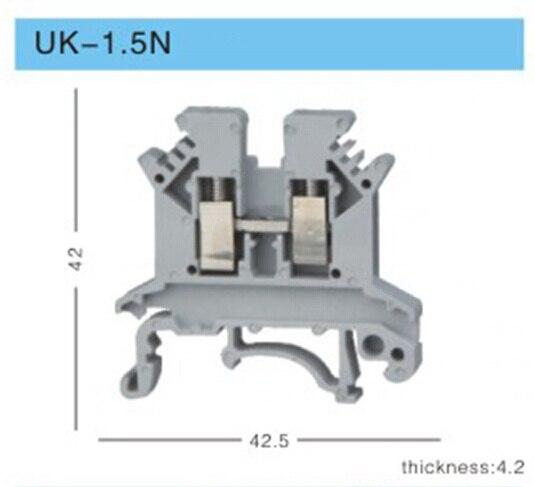 UK1.5N Великобритания серии DIN винт зажимной терминал блоки