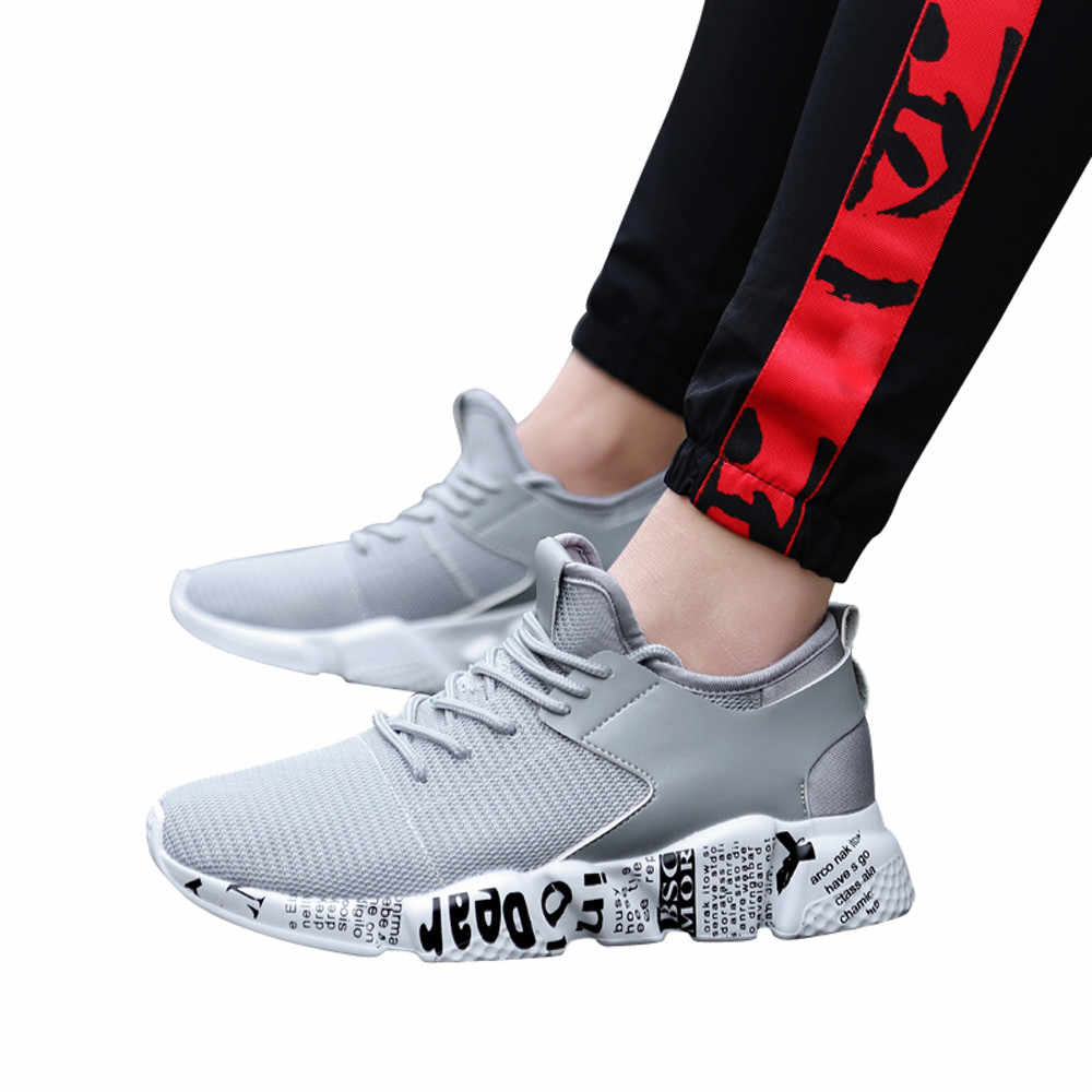 SAGACE Big Size 39-48 Men Outdoor Mesh Shoes Spring Autumn Casual Breathable Fashionable Men Shoes Men Flat Sneakers