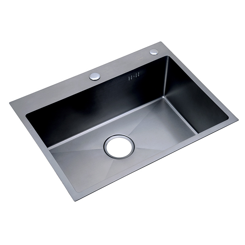 Kitchen Sinks Undermount Nano Black 30-inch 11 Gauge Sink Stainless Steel Hand Thickened Kitchen Single Slot With Drain Strainer