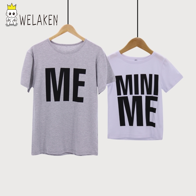 23671d08 weLaken Fashion 2018 Family Matching Outfits Father Son Summer T-Shirts  Outerwear Dad ME Baby MINI ME Cotton Family Look