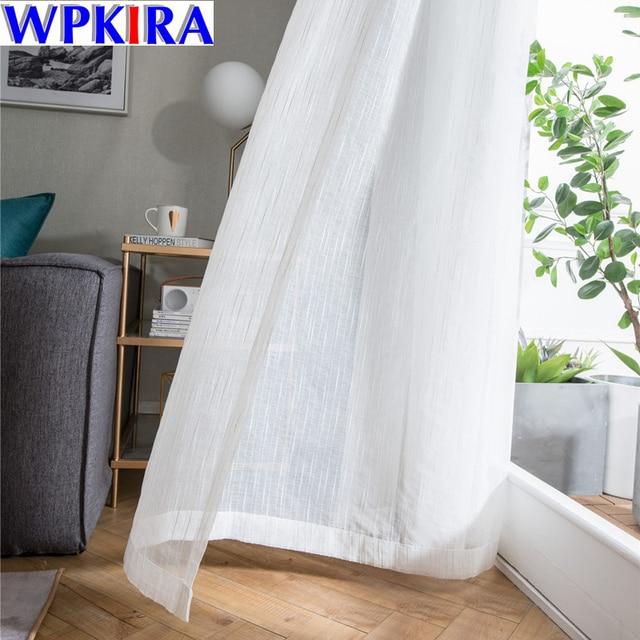 Bianco Puro Tulle Tenda Della Finestra Para Sala Paesaggio Tenda Tulle per Soggi