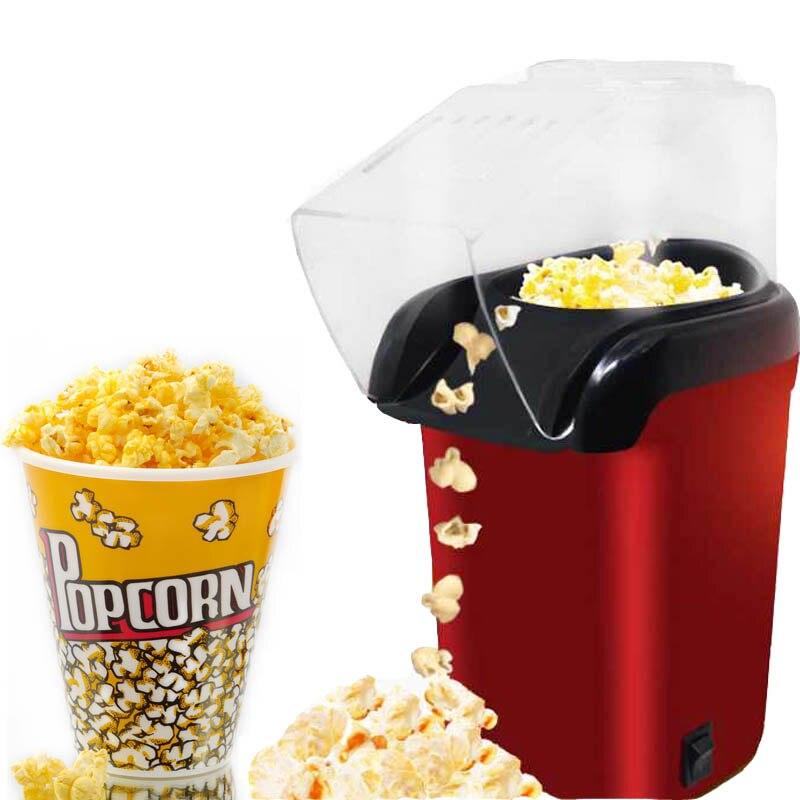 mini electric popcorn maker machine automatic red corn popper natural hot air popcorn maker corn household - Popcorn Poppers