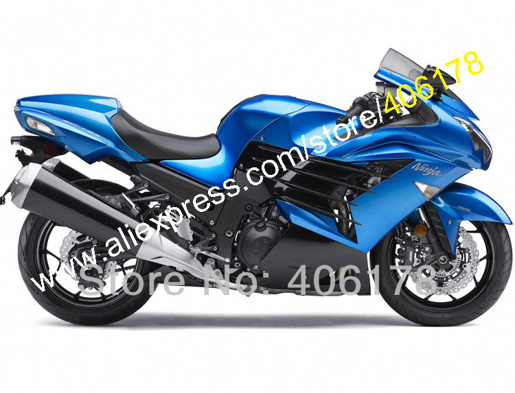 Hot Sales,Motorcycle Superstore For Kawasaki Ninja ZX14R ZZR1400 2012 2013 2014 2015 Blue Black Fairing Kit (Injection molding) motorcycle radiator protective cover grill guard grille protector for kawasaki z1000sx ninja 1000 2011 2012 2013 2014 2015 2016