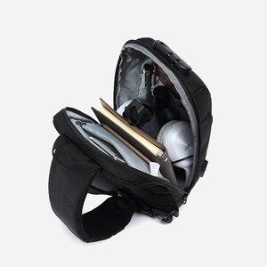 Image 4 - OZUKO 2019 новая многофункциональная сумка через плечо для мужчин, противоугонная сумка через плечо, Мужская водонепроницаемая короткая сумка на грудь