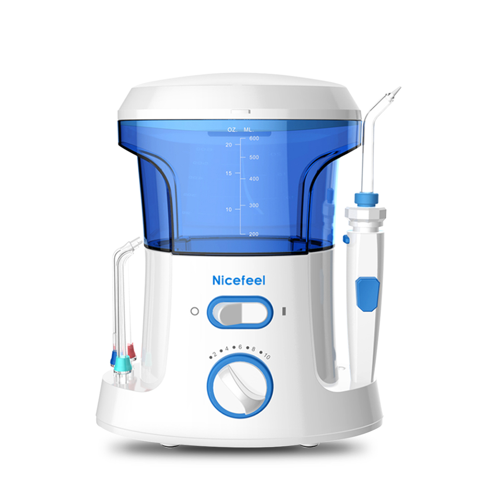 Dental Care NICEFEEL Rechargeable Water Pick Teeth Cleaning Oral Irrigator FC-168 Dental Water Jet Flosser With 8pcs Jet Tips pro teeth whitening oral irrigator electric teeth cleaning machine irrigador dental water flosser teeth care tools m2