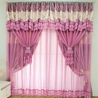 WINLIFE Vintage Floral Purple Curtains Fancy Mediterranean Rustic Living Room Curtains Fairy Girls Bedroom Curtains 2Panels