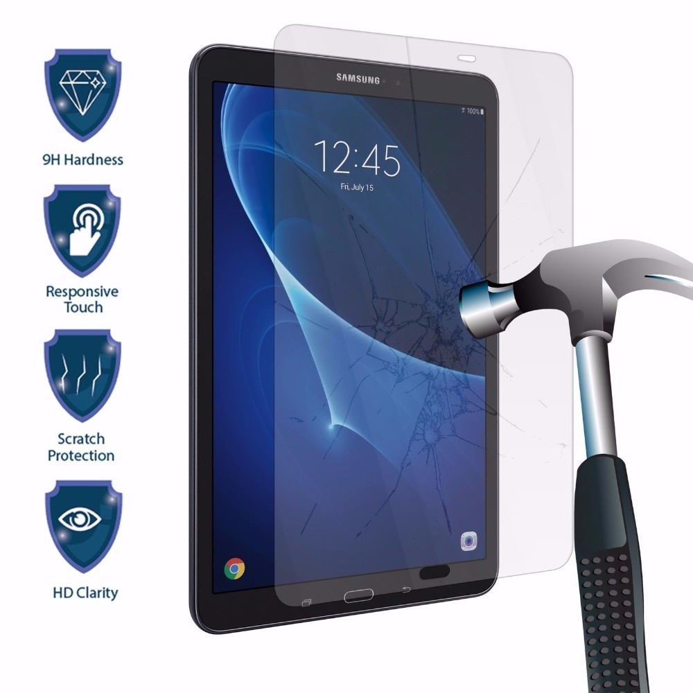 9 h protector de pantalla de vidrio templado para Samsung Galaxy TAB a A6 10.1 2016 T585 T580 SM-T580 T580N protectora película de vidrio