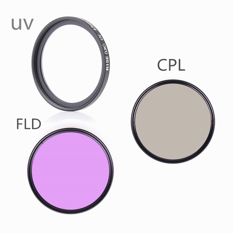 RISE(UK) camera filter 49 52 55 58 62 67 72 77 mm FLD UV CPL Filter for Sony Canon nikon camera d5200 d3300 d3100