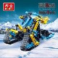 Hitech banbao bloques de construcción de juguetes educativos para niños regalos para niños mini city cars snowcraft pista de motos de nieve moto