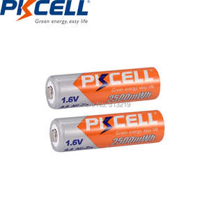 Image 4 - 16個のx 4パックpkcell 1.6v aa NI ZNバッテリー充電式電池2500mWh 2Aバッテリーaa充電式カメラ