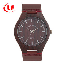 QW Sports Leather Minimalist Wood Unisex OEM Orologio Uomo Reloj Mujer Hombre Watch