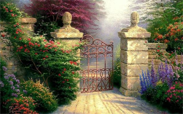 Paintings Flowers Garden Artwork 4 Sizes Home Decoration Canvas Poster Print