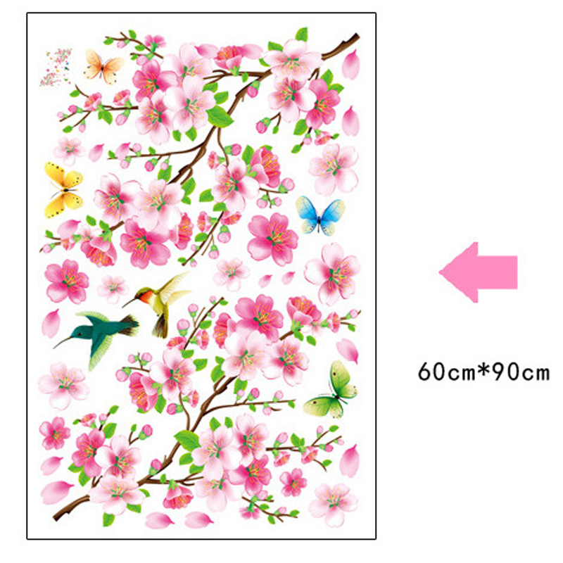 3d diy tree pink flower wall sticker home decor poster butterflies 3d diy tree pink flower wall sticker home decor poster butterflies tv wall decoration removable bedroom living wedding room kids in wall stickers from home mightylinksfo
