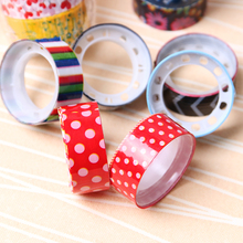 10PCS DIY Sticky Adhesive Sticker Decorative Scrapbooking Tape Cartoon Tapes Color Randomly Send Mixed Office Stationery Gift