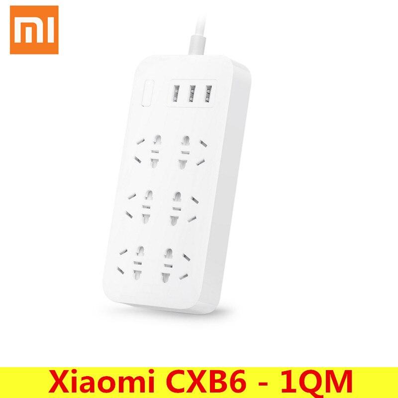 Original Xiaomi CXB6-1QM Smart Steckdose Stecker Lade Steckdosenleiste 6 Outlet