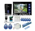 7 inch Touch Video Door Phone Intercom Entry System 1 Monitor+IR Camera with Electric Bolt Lock+RFID keyfobs