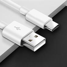 Câble de USB Type C Acgicea pour Samsung Galaxy S10 S9 Plus OnePlus 6 6t chargeur rapide de téléphone portable USB C USB C câble type c